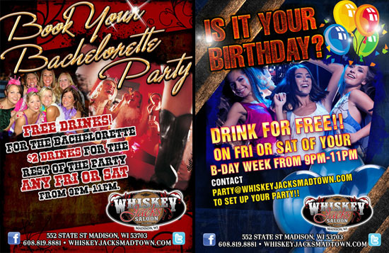 Book A Party at Whiskey Jacks Saloon